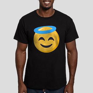 Angel Smiley Emoji Men's Fitted T-Shirt (dark)
