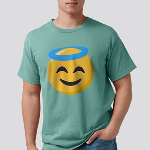 Angel Smiley Emoji Mens Comfort Colors Shirt