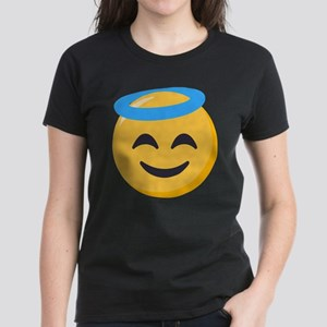 Angel Smiley Emoji Women's Dark T-Shirt