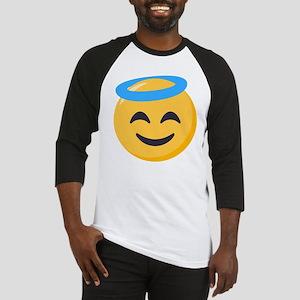 Angel Smiley Emoji Baseball Tee