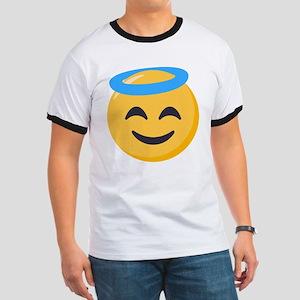 Angel Smiley Emoji Ringer T