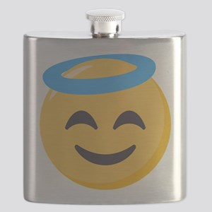 Angel Smiley Emoji Flask
