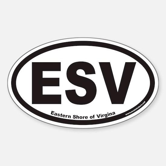 Eastern Shore of Virginia ESV Euro Oval Decal