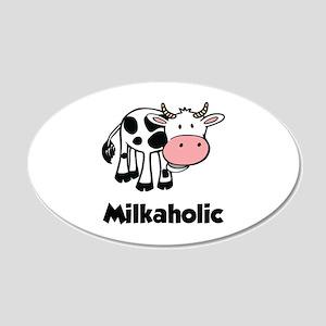 Milkaholic 22x14 Oval Wall Peel