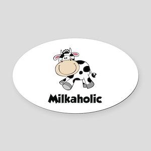 Milkaholic Oval Car Magnet