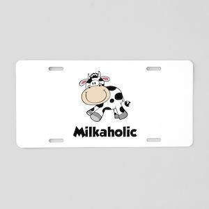 Milkaholic Aluminum License Plate