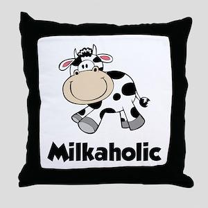 Milkaholic Throw Pillow