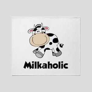 Milkaholic Throw Blanket