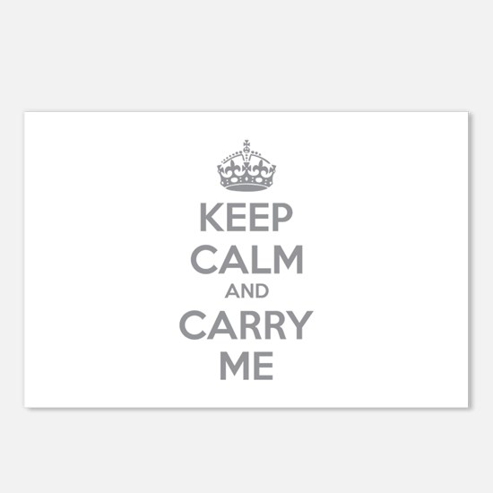 Keep calm and carry me Postcards (Package of 8)