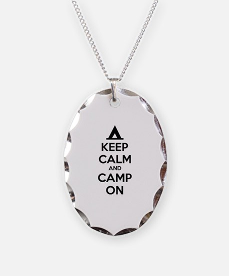 Keep calm and camp on Necklace