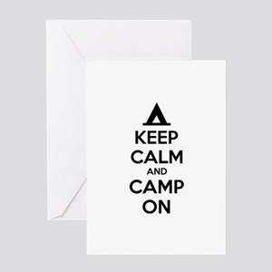 Keep calm and camp on Greeting Card