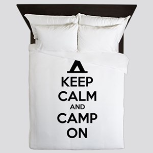 Keep calm and camp on Queen Duvet