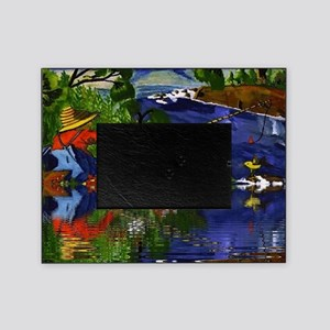 Boy Cane Fishing Picture Frame