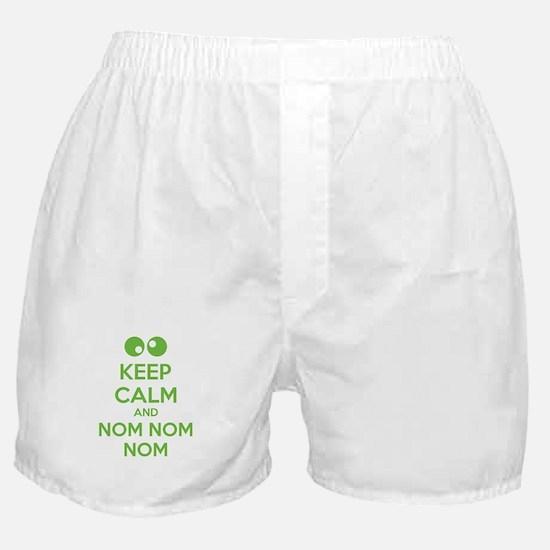 Keep calm and nom nom nom Boxer Shorts
