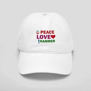Peace Love Hammer Designs Cap