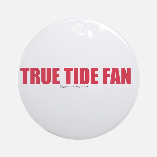 A True Tide Fan Ornament (Round)