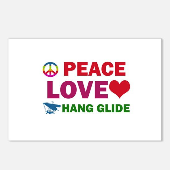 Peace Love Hang Glide Designs Postcards (Package o