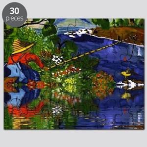 Boy Cane Fishing Puzzle