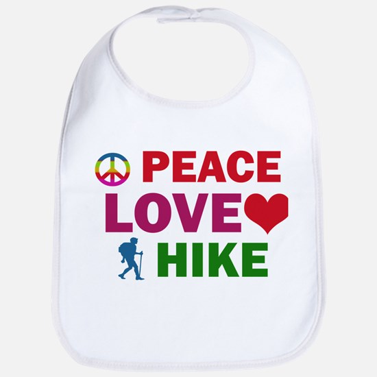 Peace Love Hike Designs Bib