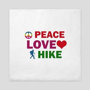 Peace Love Hike Designs Queen Duvet