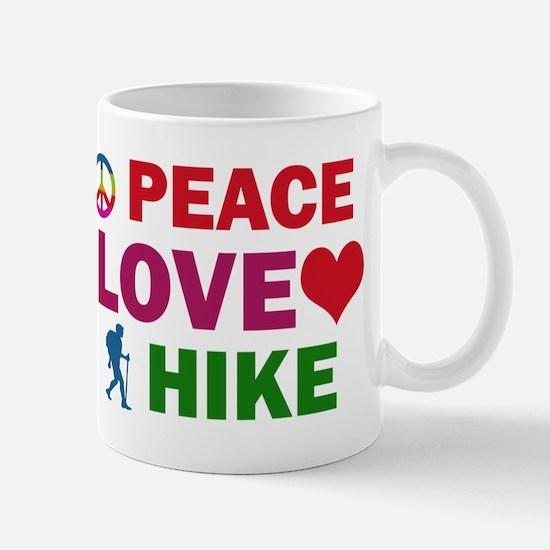 Peace Love Hike Designs Mug