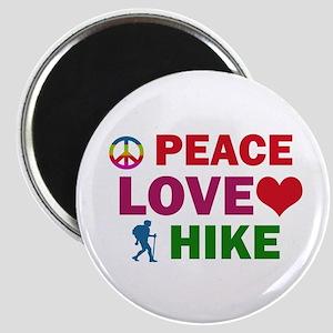 Peace Love Hike Designs Magnet