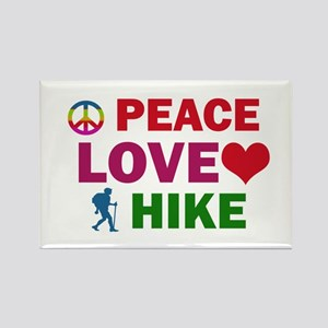 Peace Love Hike Designs Rectangle Magnet