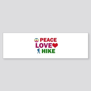 Peace Love Hike Designs Sticker (Bumper)