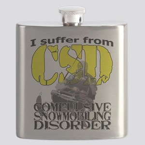 CSD Compulsive Snowmobile Disorder Flask