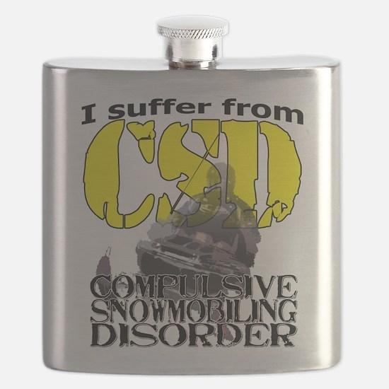 CSD Compulsive Snowmobile Disorder Flask