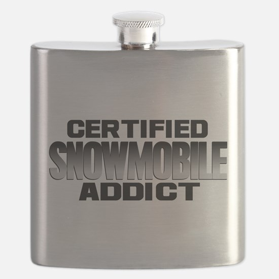 Certified Snowmobile Addict Flask