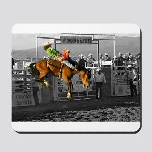 Rodeo Cowboy In Green Mousepad