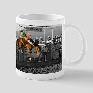 Rodeo Cowboy In Green Mug