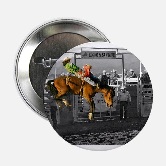 """Rodeo Cowboy In Green 2.25"""" Button"""
