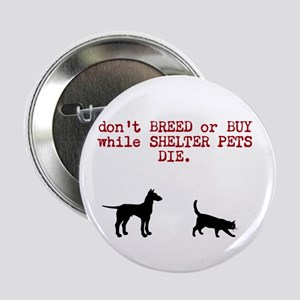 """don't BREED or BUY while SHELTER PETS DIE. 2.25"""" B"""