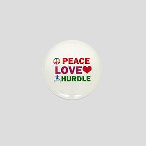Peace Love Hurdle Designs Mini Button