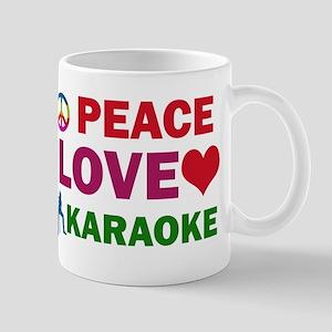 Peace Love Karaoke Designs Mug