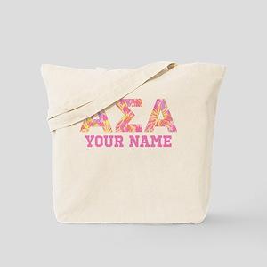 Alpha Sigma Alpha Letters Tote Bag