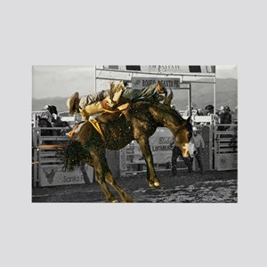 Brave Rodeo Cowboy Kicking Up The Dust Rectangle M