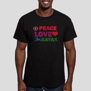 Peace Love Kayak Designs Men's Fitted T-Shirt (dar