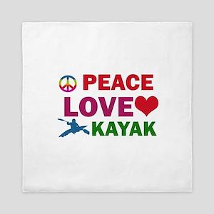 Peace Love Kayak Designs Queen Duvet