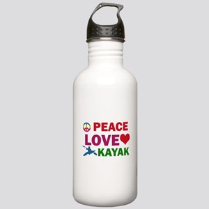 Peace Love Kayak Designs Stainless Water Bottle 1.