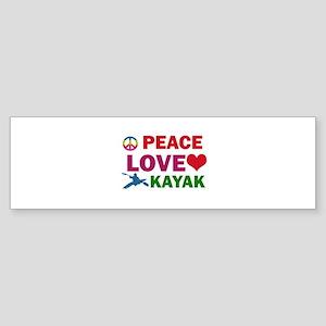 Peace Love Kayak Designs Sticker (Bumper)