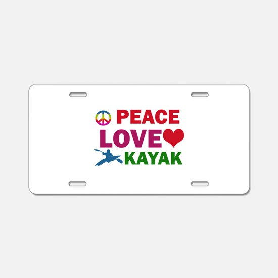 Peace Love Kayak Designs Aluminum License Plate