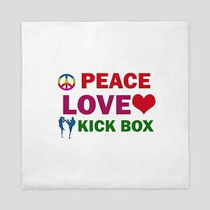 Peace Love Kick Box Designs Queen Duvet