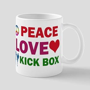 Peace Love Kick Box Designs Mug