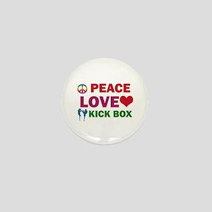 Peace Love Kick Box Designs Mini Button