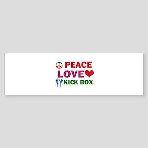 Peace Love Kick Box Designs Sticker (Bumper)