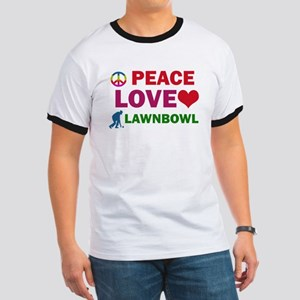Peace Love Lawnbowl Designs Ringer T