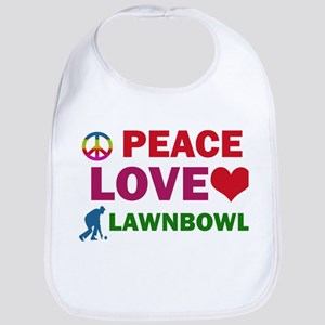 Peace Love Lawnbowl Designs Bib
